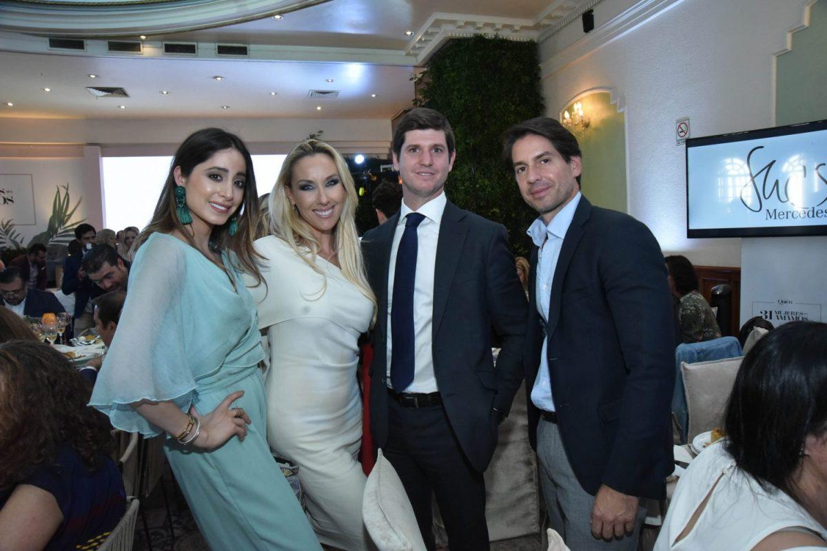 Marina Carrillo, Christina Lyon, Carlos Pellier y Abelardo Marcondes
