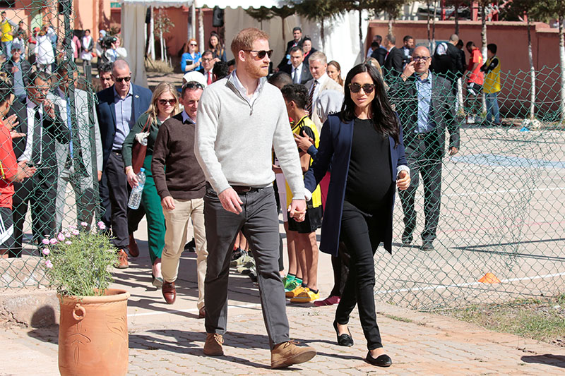 Britain's Prince Harry and Meghan, Duchess of Sussex, visit Morocco