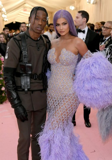 NEW YORK, NEW YORK - MAY 06: Travis Scott and Kylie Jenner attend The 2019 Met Gala Celebrating Camp: Notes on Fashion at Metropolitan Museum of Art on May 06, 2019 in New York City. (Photo by Neilson Barnard/Getty Images)