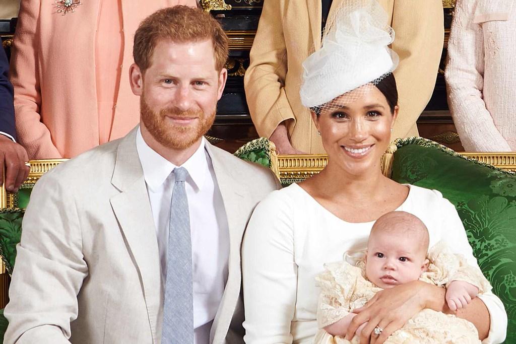 Príncipe Harry y Meghan Markle con Archie