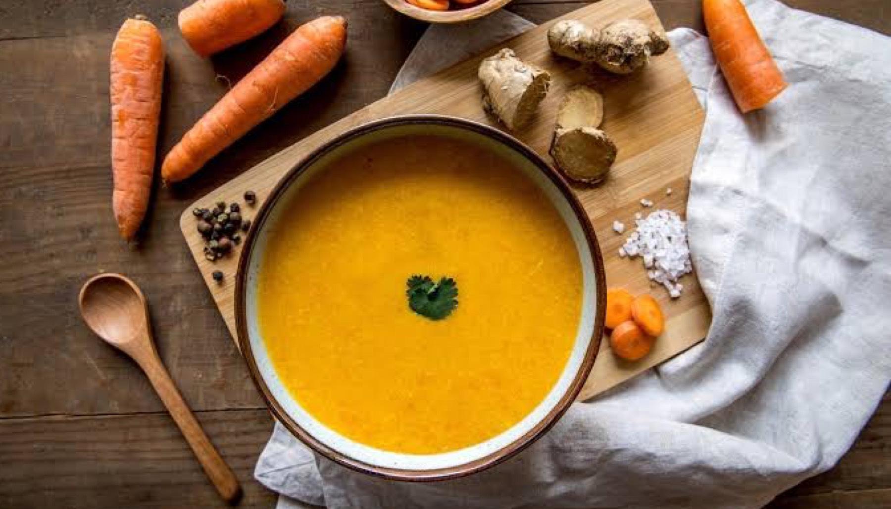 Sopa de Zanahoria y Jengibre