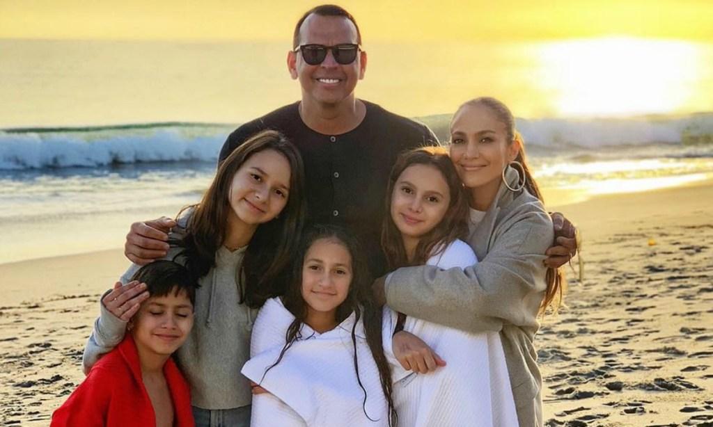 Jlo-Alex-Rodriguez-y-sus-hijos