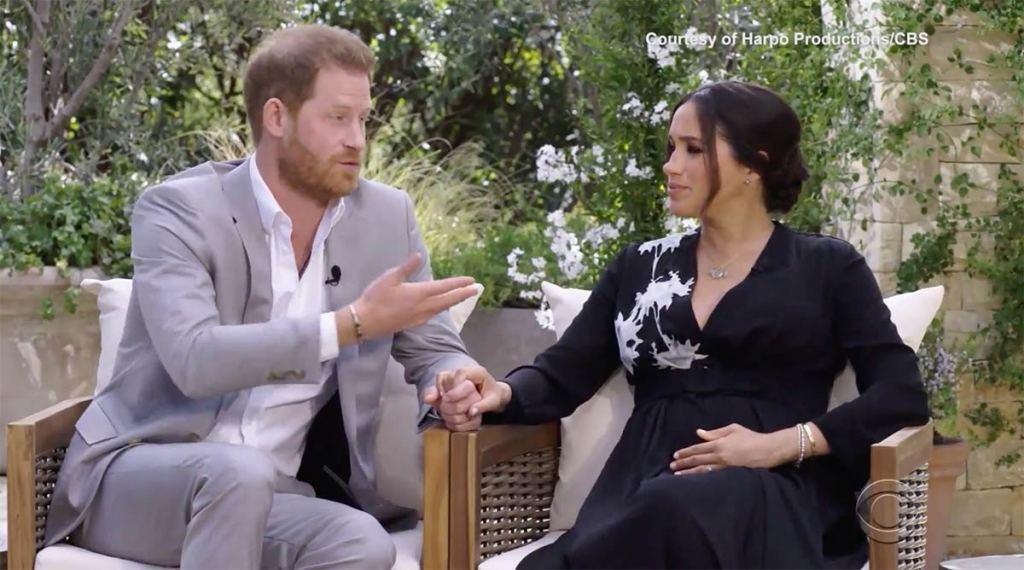 Príncipe Harry y Meghan Markle en entrevista con Oprah Winfrey