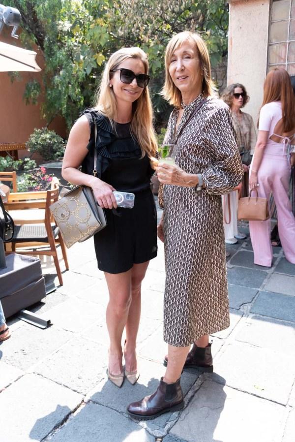 Catalina Buchanan y Patricia Marshall en la comida por la inauguración de Zona Maco.