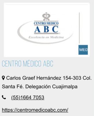 Hospital ABC clínica de belleza.
