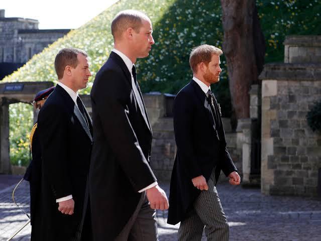 Harry y William en el funeral de su abuelo