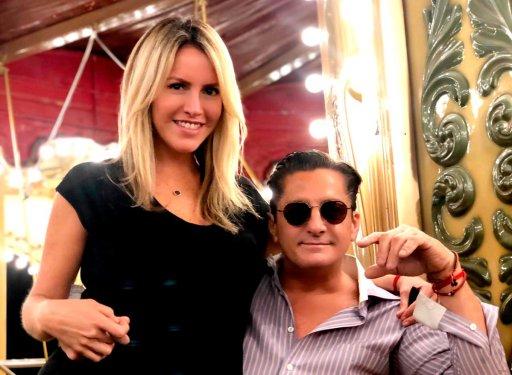 Alejandro Basteri con su novia, Mariana Otero.
