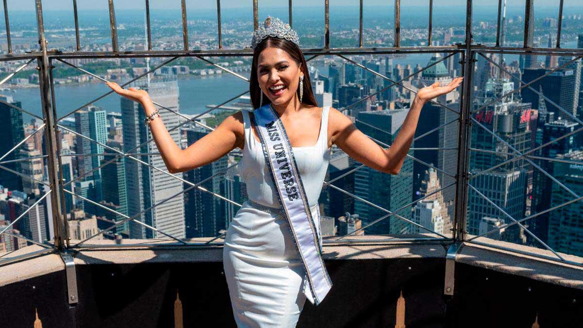 Andrea Meza, Miss Universo, en Nueva York