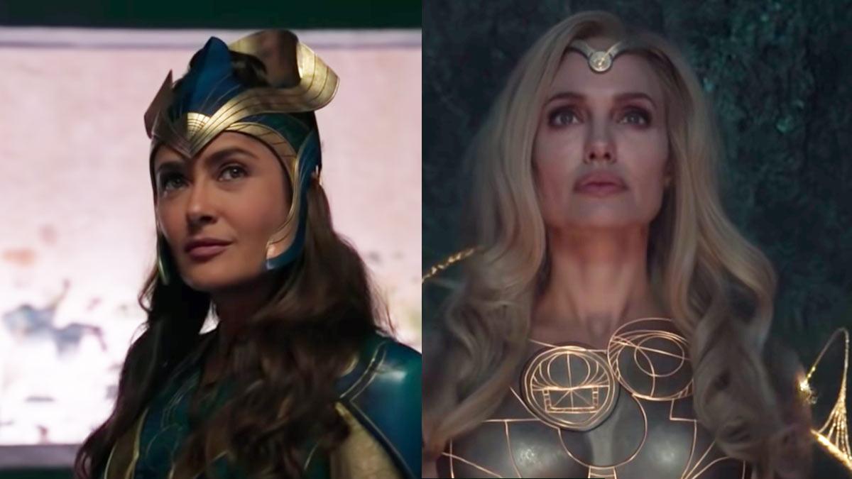 Salma Hayek y Angelina Jolie caracterizadas de heroínas en The Eternals