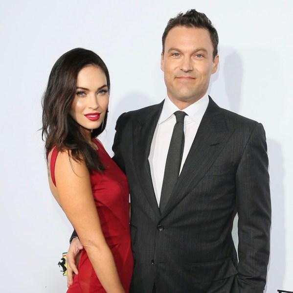 La ex pareja: Megan Fox con su ex epsoso Brian Austin Green