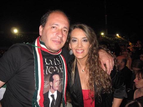 Eugenia Cabral con Miguel