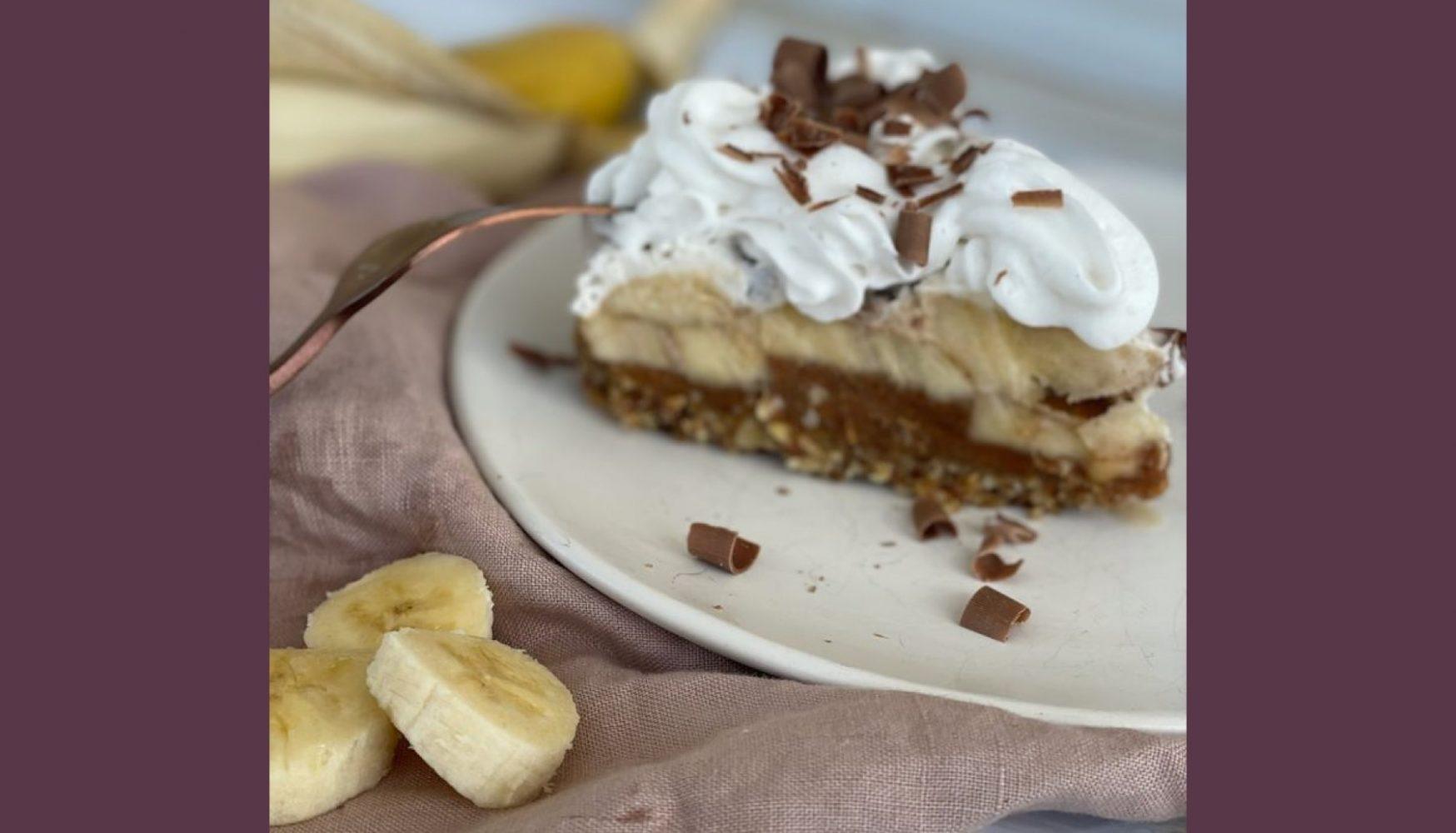 receta saludable Pie de Plátano