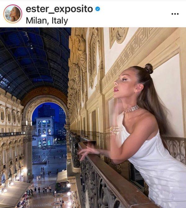 Ester Expósito en Milán