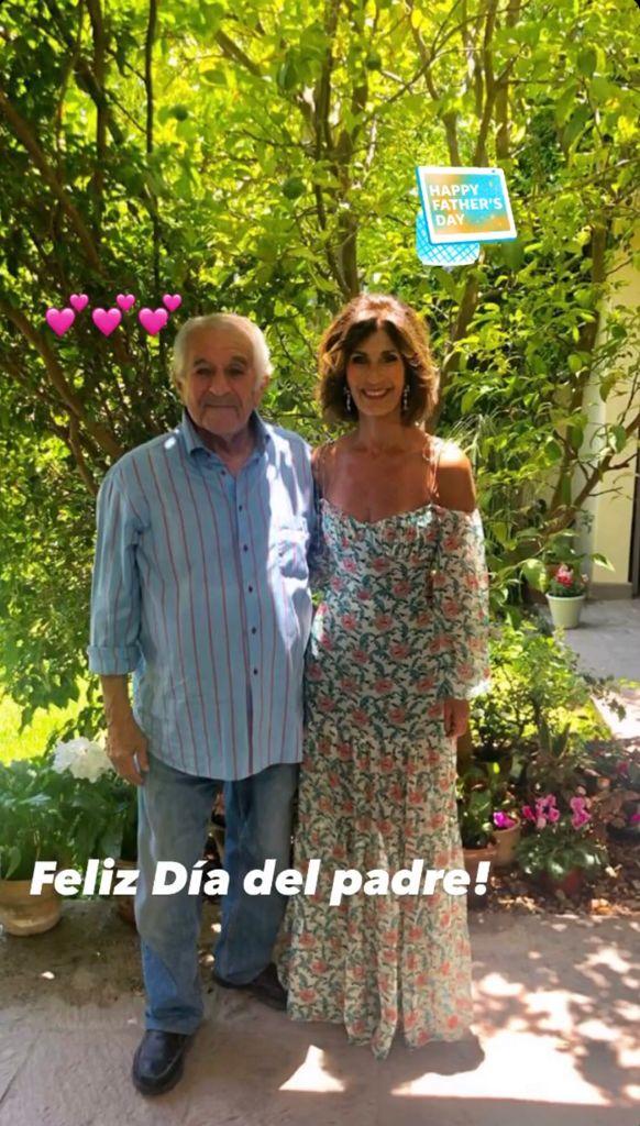 Martha Barcarcel con su padre