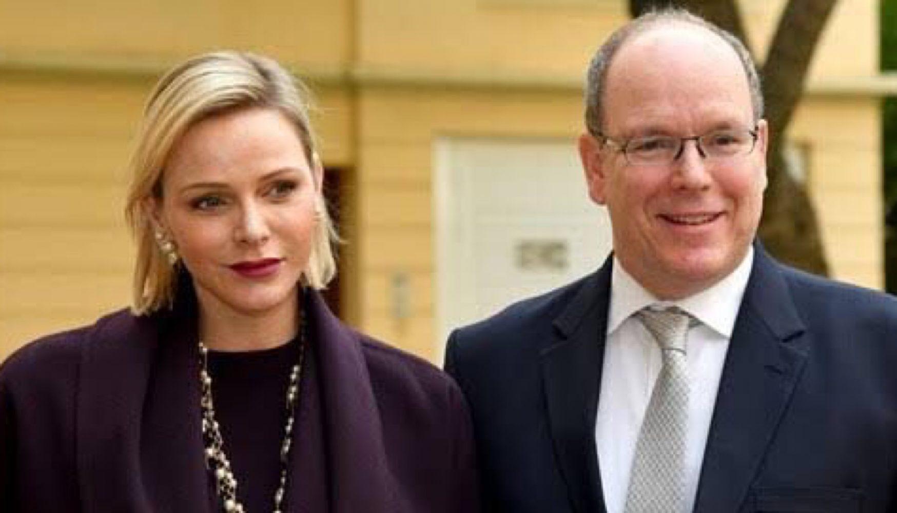 Charlene de Mónaco y el príncipe Alberto