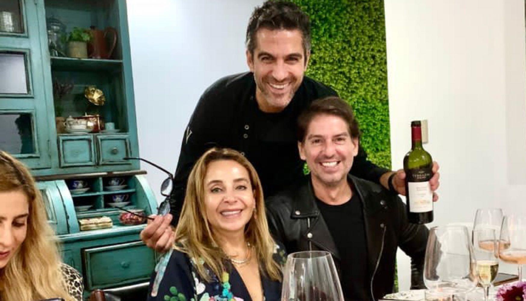 Luisa Serna, Abelardo Marcondes y el Chef Vladio Chiappetta