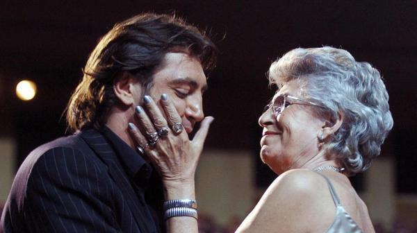 Javier y su madre Pilar Bardem