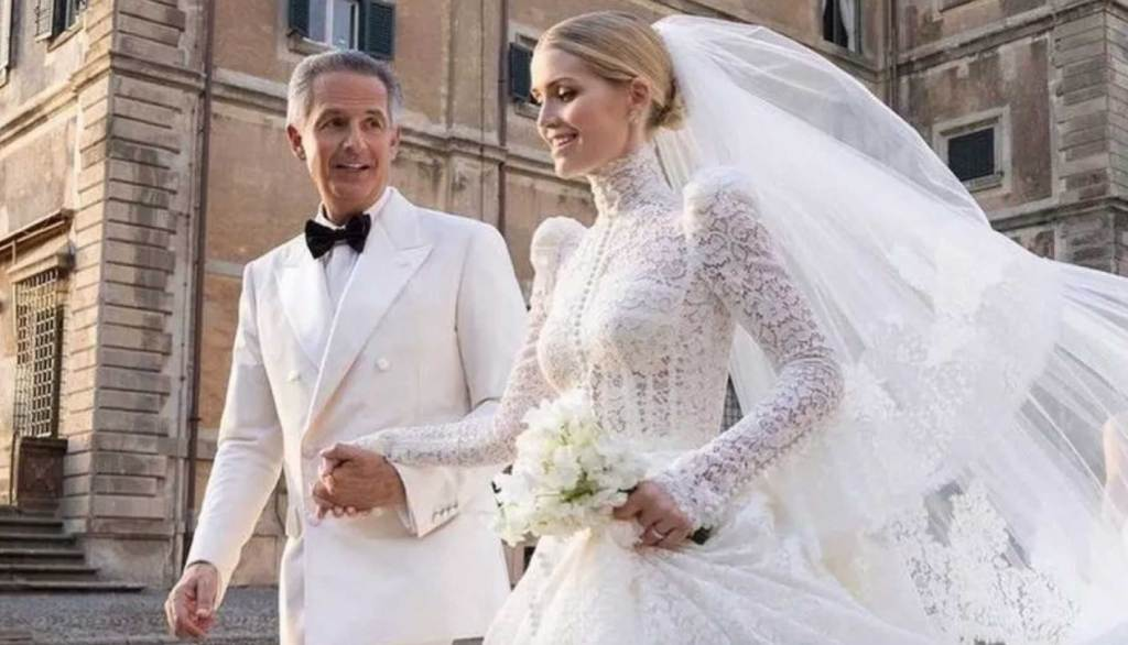 Lady Kitty Spencer y Michael Lewis