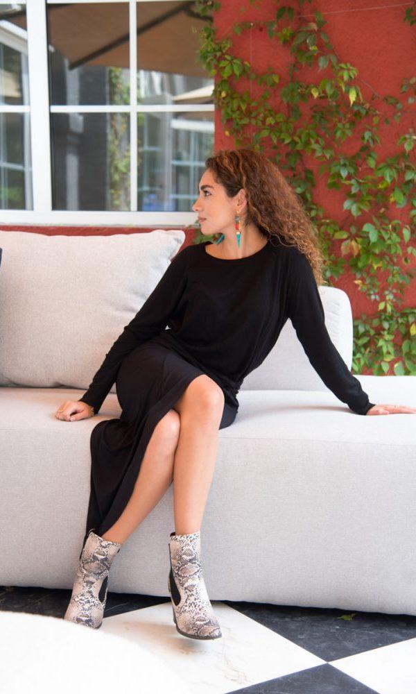 Fernanda López en el Shooting editorial de Solferino Home