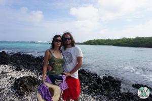 Gaby y Peter en Tintoreras (Galápagos)
