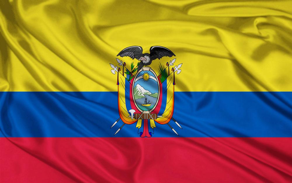 Bandera de Ecuador. Ecuador te necesita