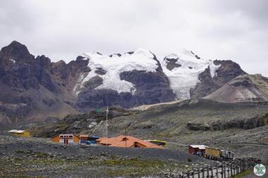 Glaciares en la Cordiilera Blanca en 2016
