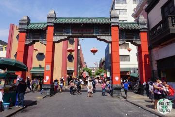 El portal del Barrio Chino en Lima Perú
