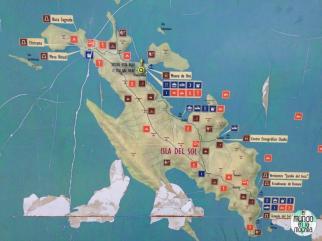 Mapa de la Isla del Sol