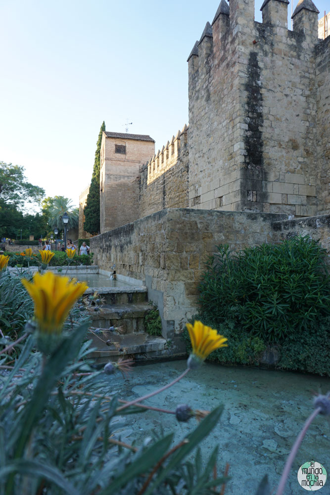 Pozas de agua fuera del Alcazar de los Reyes en Córdoba