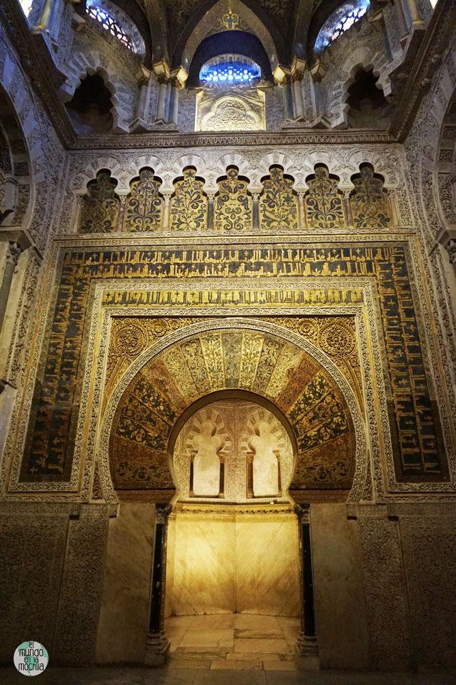 El mhrab dorado en la Catedral-Mezquita de Córdoba