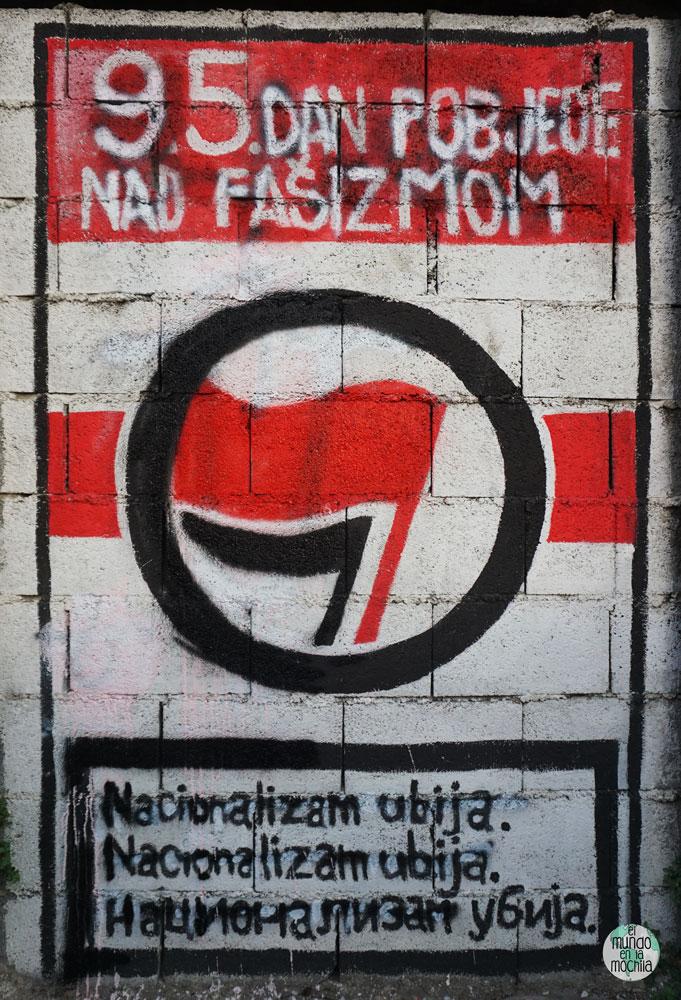 Pintada anarquista en Mostar