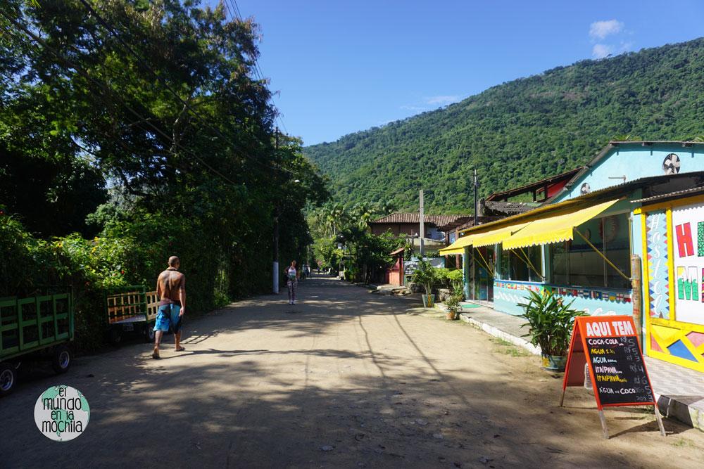 Vila do abraao pueblo ilha grande