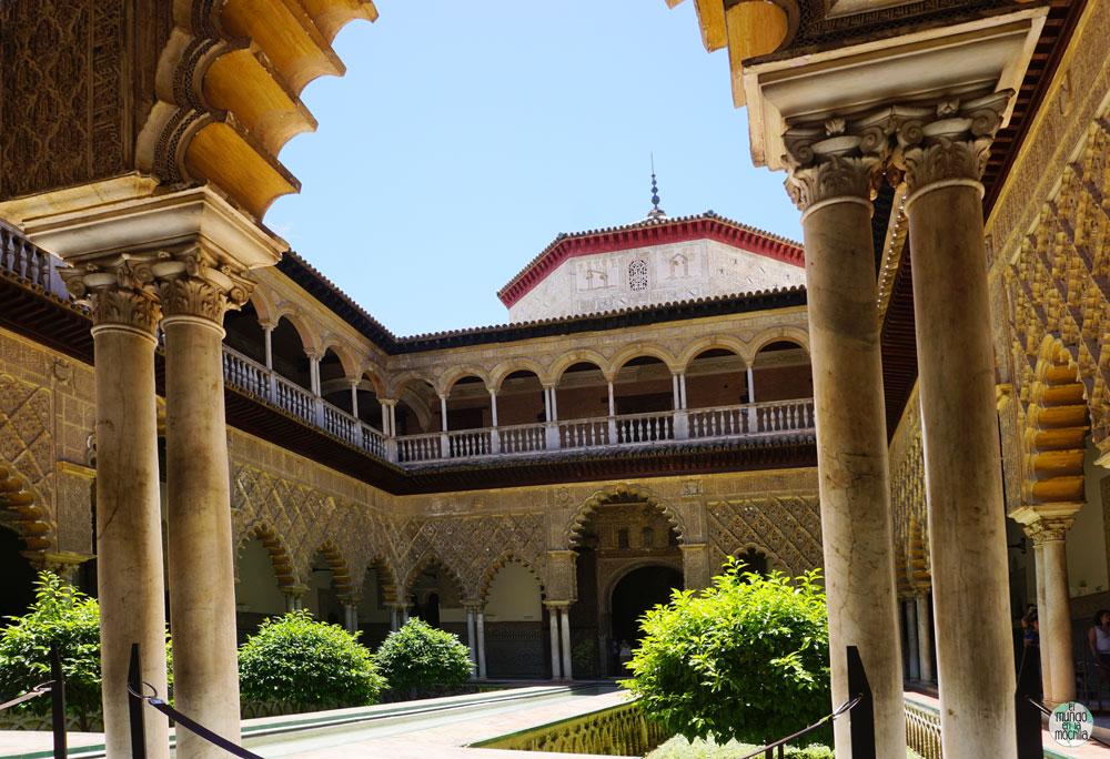 El Patio de las Doncellas en el Alcazar Real de Sevilla