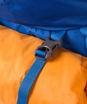 Cinta exterior para llevar la carpa en una mochila