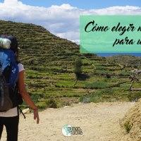 Cómo elegir mochila para un viaje mochilero