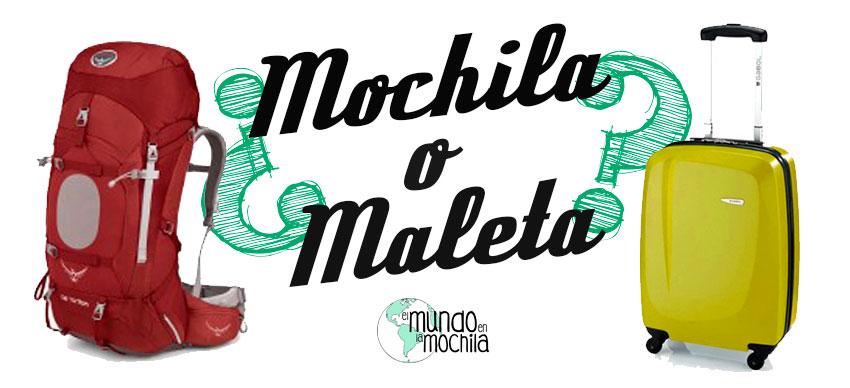 Diesño de ¿Mochila o Maleta? para Cómo elegir mochila para viaje mochilero barata