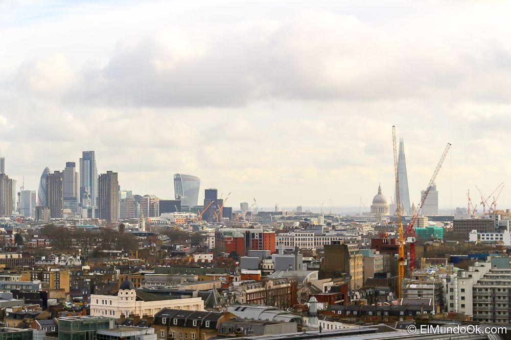 Vistas en la terraza de las oficinas de Google en Londres.