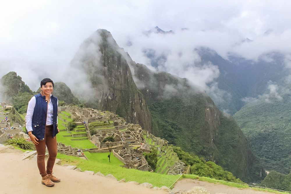 Elvira en Machu Picchu.
