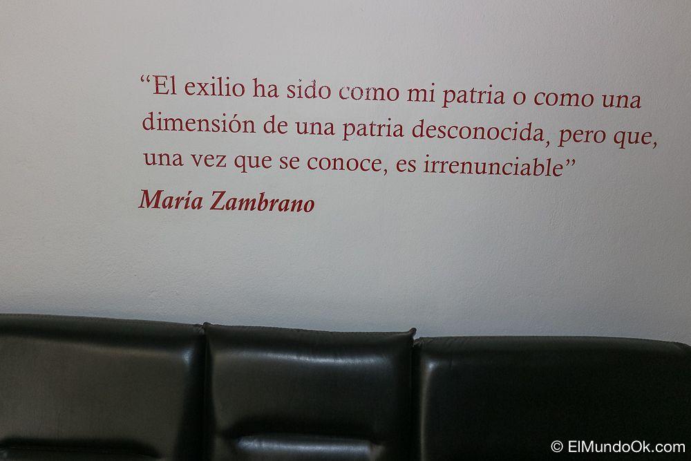 María Zambrano habla sobre su exilio.