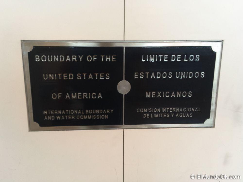 Límite fronterizo en el CBX. Cross Border Xpress.