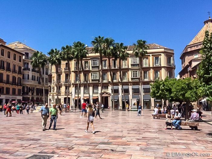 Plaza de la Constitución en Málaga.
