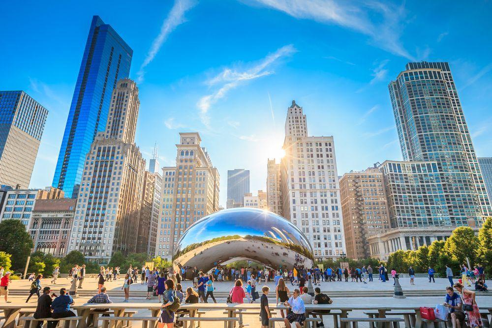 Qué hacer en Chicago. The Bean en el Millenium Park.