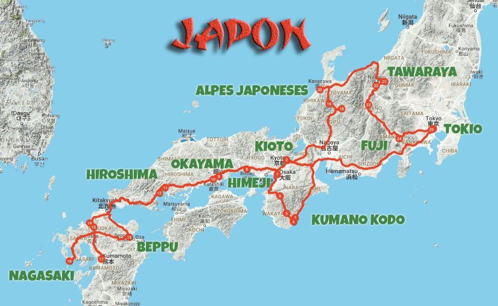 itinerario de un mes en Japón El Mundo Patas Arriba