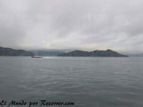 Vistas desde el ferry, aunque el tiempo no nos acompañó