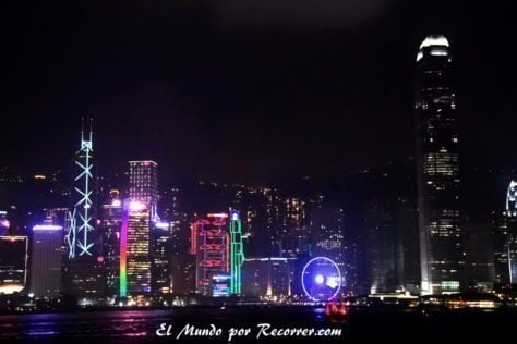 Desde la Avenue of Stars en Kowloon