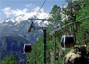 Uno de los teleféricos de Lijiang