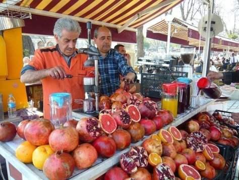 Puestos callejeros de zumos turquia street juice