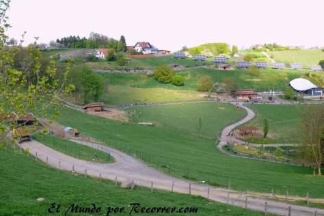Vista del huerto-zoo ecológico
