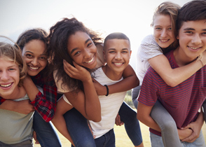 Group of young teenagers