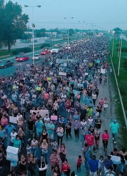 Multitudinaria marcha pacífica en pedido de Justicia por Leandro Alcaraz